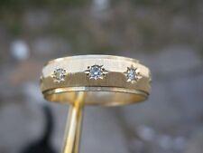 14k YELLOW GOLD MENS DIAMOND WEDDING BAND / RING, HEAVY GOLD 5.01gr Size 9