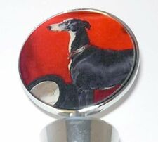 Tuxedo Greyhound  Dog Wine Bottle Stopper Whippet