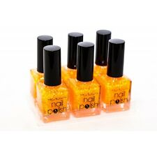 1 VERNIS A ONGLES YESENSY GLITTER COLLECTION PAILLETTE FLUO Pailleté 123 ORANGE