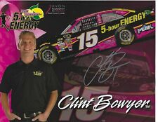 Clint Bowyer Autographed Pink 5 Hour Energy Hero Card HTF