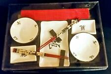 Sushi Make and Serve Set New In Package with Roller, Chopsticks, Serving Dishes