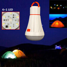 Outdoor Camping Hanging 6+1 LED Tent Light Bulb Fishing Headlamp Lantern Lamp