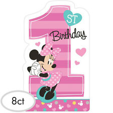 MINNIE MOUSE Fun to Be One INVITATIONS (8) ~ 1st Birthday Party Supplies Invites