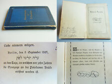 JUDAICA! 1 x KVK: N. Oppenheim: Gedenk-Sprüche. Privatdruck Berlin 1885