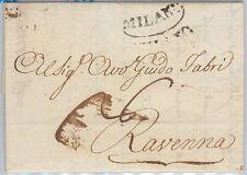 LOMBARDO VENETO  storia postale - PRECURSORI busta prefilatelica: MILANO - 1808