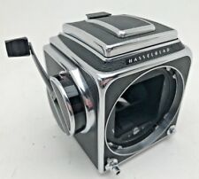Hasselblad 500cm body with single action waist level Finder and rapid wind crank
