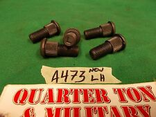Willys Jeep MB CJ2A 3A M38 38A1 LH wheel stud set five pieces US MADE