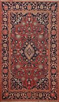 4'x6' Vintage Floral Ardakan Traditional Hand-knotted Area Rug Wool Foyer Carpet