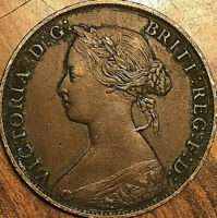 1861 NEW BRUNSWICK LARGE 1 CENT PENNY COIN - Excellent example!