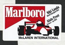 Original MARLBORO MCLAREN WIN 1984 NIKI LAUDA PROST GP periodo STICKER AUFKLEBER