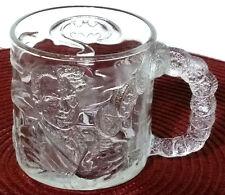 Mc Donalds Batman Forever Two Face Clear 3D Glass Mug 10 fl oz Cup