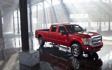 """2013 FORD F250 SUPER DUTY PLATINUM RED A2 CANVAS PRINT POSTER 23.4""""x15.4"""""""