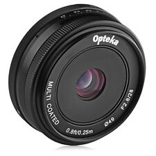 Opteka 28mm f/2.8 Manual Prime Lens for Canon EF-M M100 M10 M6 M5 M3 M2