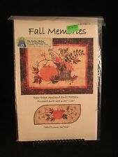 "Fall Memories Quilt and Table Runner Pattern 34""x26"" never used"