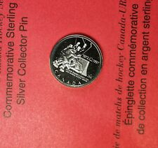1972 Canada-Russia Ice Hockey Sterling Silver Collector Series Uncirculated Pin