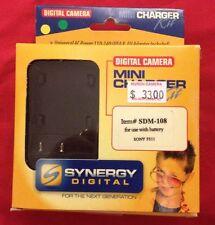 Digital Camera Mini Battery Charger Kit SDM-108 Video DC 12V 600mA Sony FS11 Car