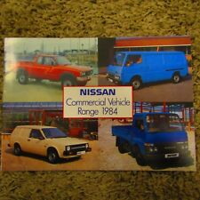 NISSAN E23 Urvan Sunny Van 1 Ton King Cab Pick-Up Cabstar UK Sales Brochure 1984