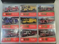 1993 Fire Engines 100 Card Set in Album Virginia Hobby Supply Firefighters