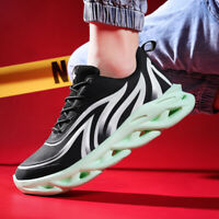 Men's Outdoor Running Air Cushion Flyknit Jogging Shoes Athletic Sports Sneakers