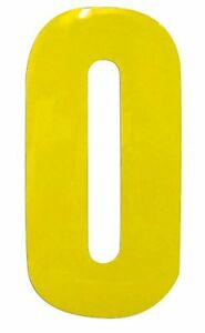 High Visibility Reflective Self Adhesive Wheelie Bin Numbers Stickers 7'' Waste