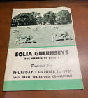 1951 Harkness Estate EOLIA GUERNSEYS Cattle Sale Catalog Waterford Connecticut