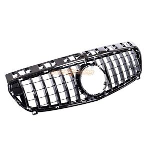 MERCEDES BENZ A-CLASS W176 2013-2015 GRILLE GLOSS BLACK PANAMERICANA GT STYLE