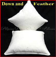 CUSHION INSERTS X 2  - 40 x 40 CM - DUCK DOWN AND FEATHER SCATTER CUSHIONS