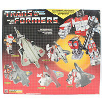 Transformers G1 Superion Complete Aerialbots Gift Set w/ Box & Weapons, VTG 1985