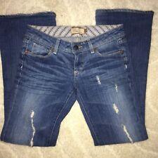 PAIGE Premium Denim Womens Laurel Canyon Distressed Destroyed Boot Cut Jeans 25