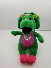 Baby Bop plush toy 11 inches 'I love you' badge on chest, Barney and Friends