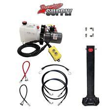 Single Hydraulic Trailer Jack Kit - Kti Hydraulic Pump