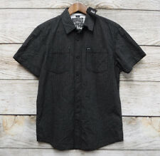 Buffalo David Bitton Mens Small Black & White Checkered Button Front Shirt New