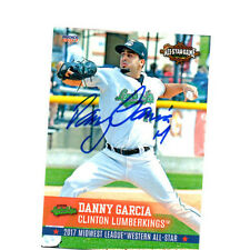 Danny Garcia 2017 Midwest League All Star auto signed card Clinton Lumberkings