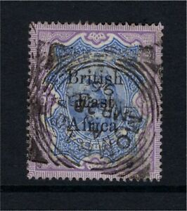 British East Africa on India QV 1895 5R Used