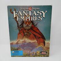 "Dungeons & Dragons Fantasy Empires SSI 3.5"" Floppy Disc IBM PC 1993 Big Box D&D"
