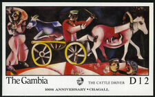 Gambia 666 S/S, MNH. Marc Chagall, Painting: The Cattle Driver, 1987