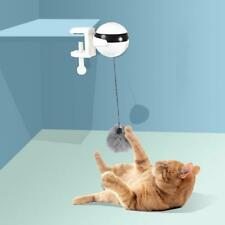 Pet Cat Toys Interactive Automatic Lifting Ball Electric Tease Plush Kitten CL