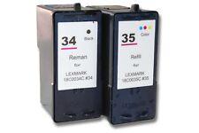 2x XXL CARTOUCHE ENCRE d'imprimante pour LEXMARK 34 35 X4550 X5070 X5075