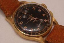 Vintage Chronographe Suisse 750 /18k Gold, Herren Armbanduhr seltenes Kal Ø 36mm