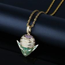 Men Classic Dragon Ball Piccolo Style Pendant Necklace With Chain