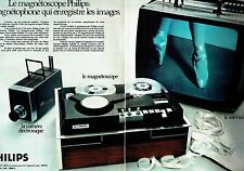 PUBLICITE ADVERTISING 017  1971  Philips (2pa) magnétoscope magnétophone  caméra