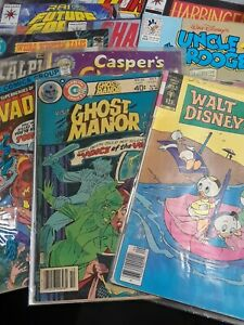 12 Comics Reader-Fair. Walt Disney, Uncle Scrooge Harbinger, Invaders, Magnus