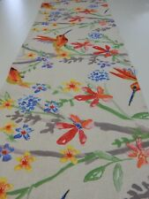 Decorative Table Runner Hummingbirds on Neutral 150cm x 35cm