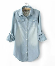 Unbranded Denim Machine Washable Solid Clothing for Women