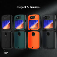 For Motorola Razr 5G Case Luxury Shockproof Leather Phone Protective Cover Shell
