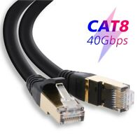 6-100Ft Cat8 Cat7 Cable Ethernet Outdoor Hi Speed Gold Plated RJ45 Connector Lot