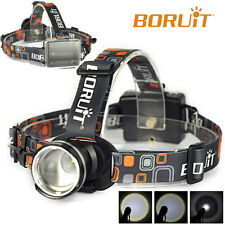 New Zoomable 5000LM  XM-L T6 LED Headlight 3 Modes Flashlight Head Lamp AA Light