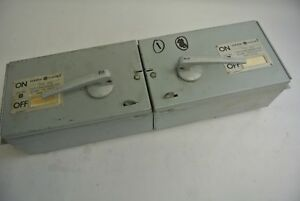 GE THFP361 TWIN FUSIBLE QMR-TYPE PANELBOARD SWITCH - 600V, 30A, 20HP MAX.