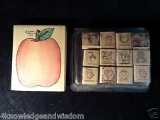 Stampin' Up! 1998 Holiday Fall Little Somethings Big Apple Teacher 13 Stamp Lot