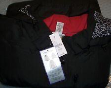 Catherines Plus 5X Black Red 3 IN 1 Anorak 3 Season Sleek Smooth Puffer Coat NWT